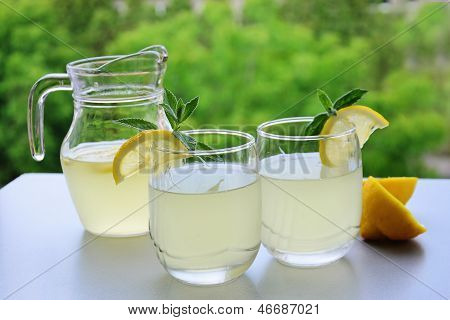 Cold Summer Refreshment With Lemon