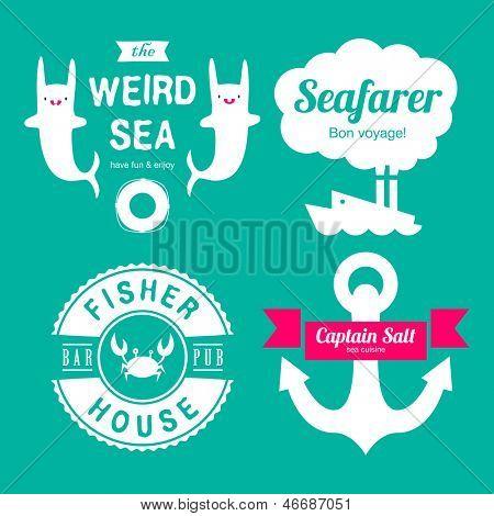 Sea theme labels
