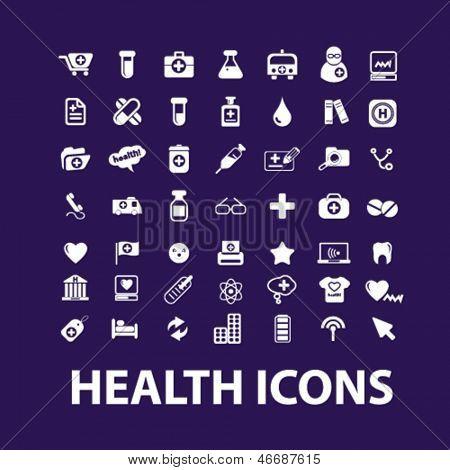 big health, hospital, medical icons, signs set, vector