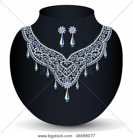 Un collar con su boda con piedras preciosas
