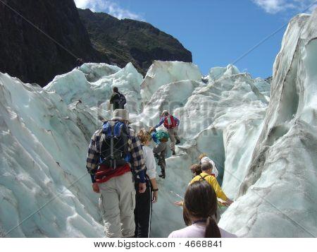 Climbing Franz Joseph Glacier, New Zealand