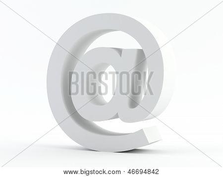 White @ E-mail Sign