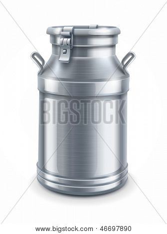 can container for milk isolated on white background - EPS10 vector illustration