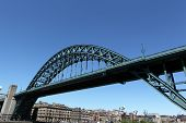 stock photo of tyne  - Tyne bridge spanning the River Tyne in Newcastle - JPG