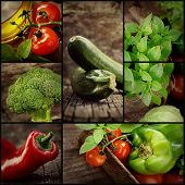 stock photo of vegetables  - organic food concept - JPG