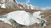 picture of karakoram  - Huge ice formation at the mighty Baltoro Glacier Karakorum Range Pakistan - JPG