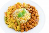 stock photo of malaysian food  - Vegetarian biryani rice or briyani rice - JPG