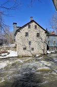 pic of fieldstone-wall  - Typical Canadian fieldstone House Frelighsburg - JPG