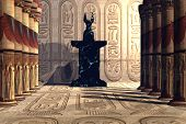 foto of anubis  - A temple to worship the Egyptian god Anubis - JPG