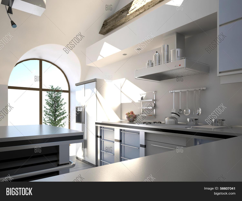 Raam decor keuken - Moderne witte kamer ...
