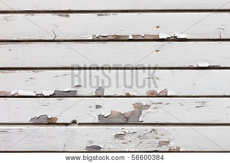 Vintage White Wood Background
