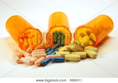 Medicine Bottles And Pills