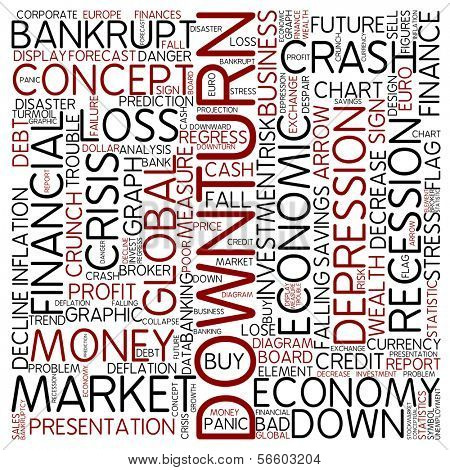 Word cloud - downturn