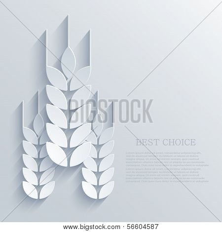 Vector wheat background. Eps10