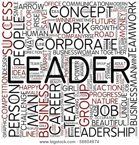 Word cloud - leader