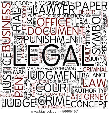 Word cloud - legal