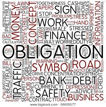 Word cloud - obligation