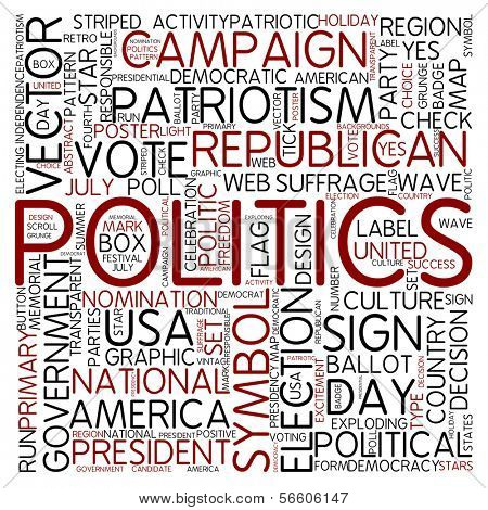 Word cloud - politcs