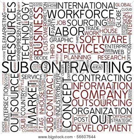 Word cloud - subcontracting