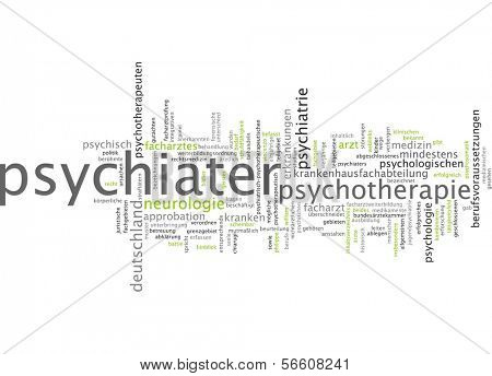 Word cloud - psychiater