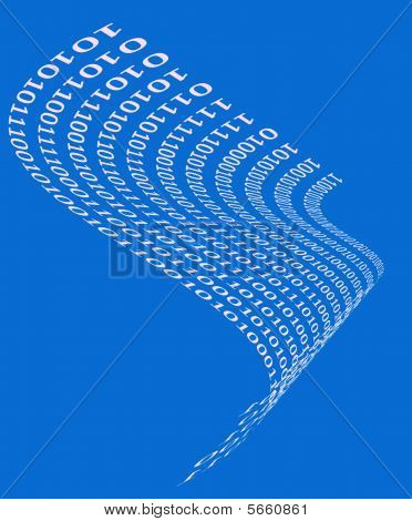 binary code wave