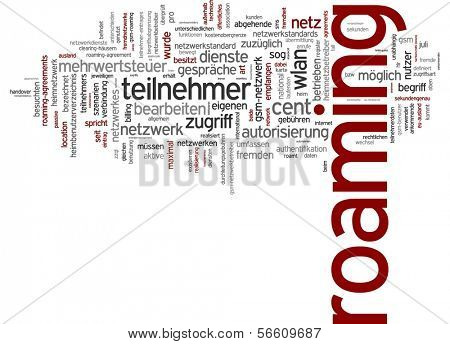 Word cloud - roaming