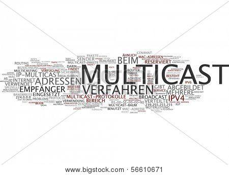 Word Cloud - Multicast