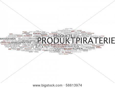 Palavra nuvem - pirataria