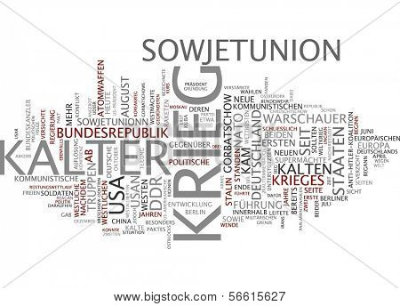 Word cloud -  cold war