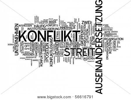 Word cloud - conflict