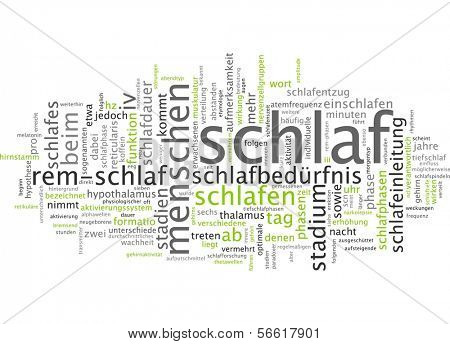 Word cloud - sleep