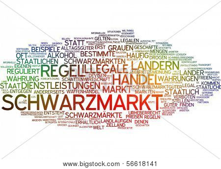 Word cloud -  Word cloud - black market