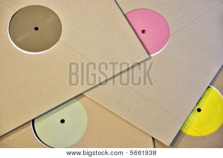 Colorful Vinyl Record Labels