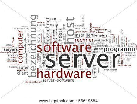 Word cloud -  Word cloud - server