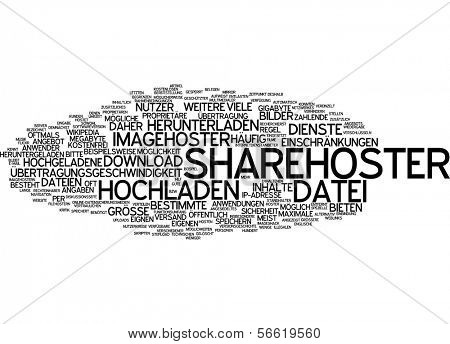 Word cloud -  Word cloud - sharehoster