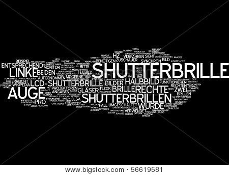 Word cloud -  Word cloud - shutter glasses