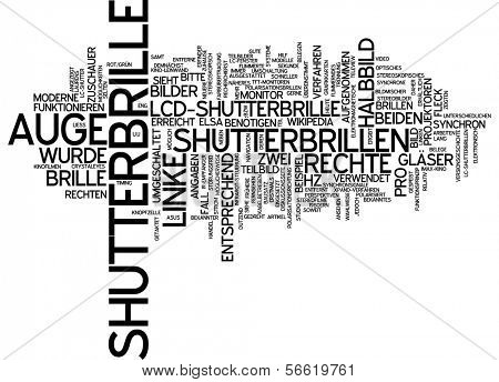 Word Cloud - Wort-Wolke - Shutter Brille