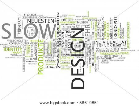 Word cloud -  Word cloud - slow design