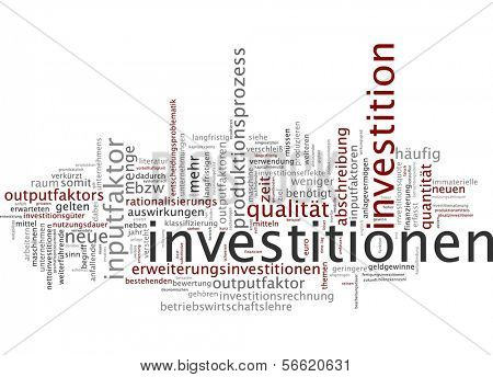 Word cloud - investment