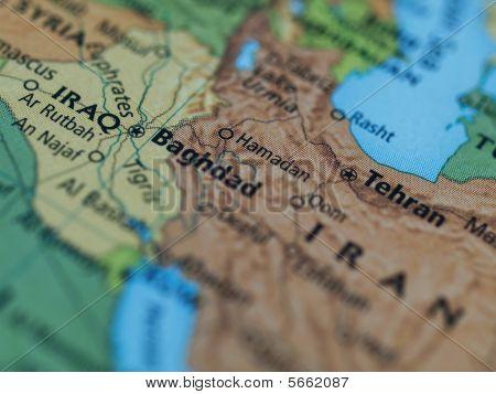 Irak Iran Karte
