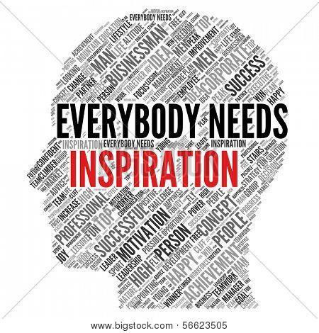 "Motivation quote   ""Everybody needs inspiration"""