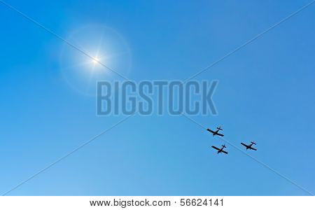 Planes And Sun