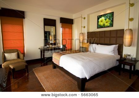 Oriental Style Hotel Room At Spa Resort