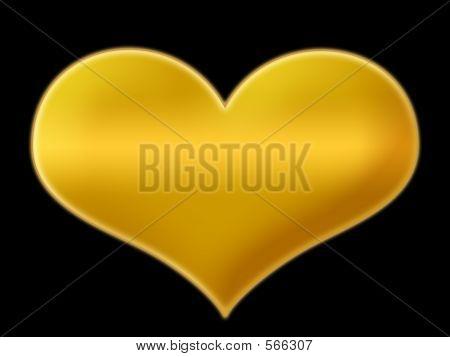 Goldenheart On Black