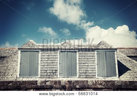 Old maritime stone house Exterior at Shirley Heights, Antigua