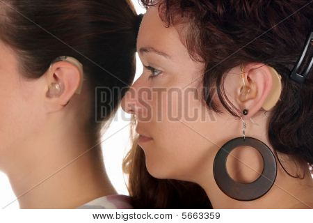 Woman With Hearing Aid