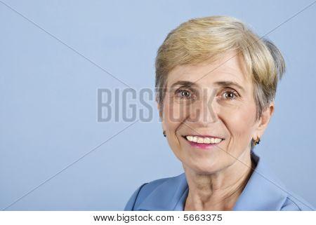Smile Senior Business Woman