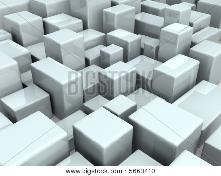Abstract City Scene Graphic Background