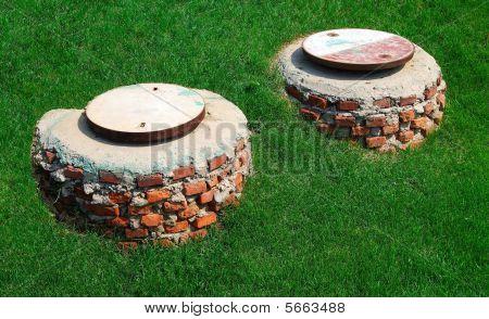 Two manholes