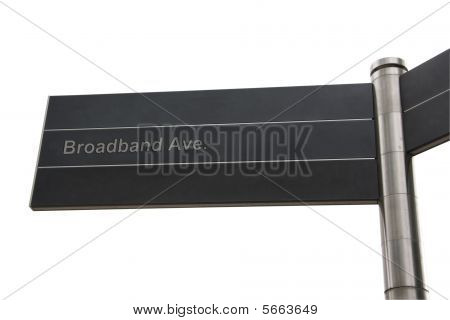 Broadband Themed Street Sign